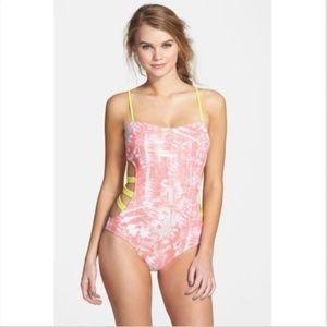 BP. Undercover Cage Cutout One-Piece Swimsuit L